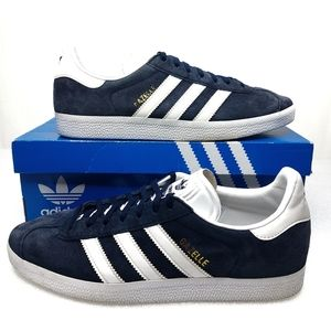 Adidas Originals Mens Gazelle Shoes Blue Suede 8.5